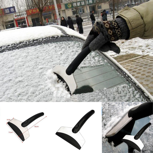 New Protable Mini Stainless Steel Car Snow Shovel Ice Deicing Tool Kit Gadget