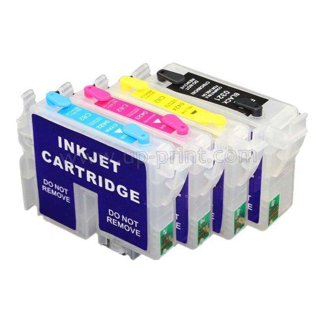10sets T0321 T0422 T0423 T0424 refillable ink cartridge for Epson CX5100 5200 5300 5400 C82 with ARC chip free shipping