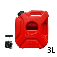 3L Red Mount Motorcycle Gas Diesel Petrol Fuel Container Oil Tank Safety Gasoline Fuel-jugs For Car Motorcycle Accessories