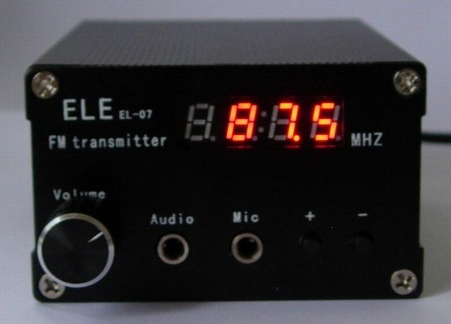 0.2w 1W 3W 5W PLL Digital FM Transmitter broadcast RF POWER Adjustable ELE EL-07