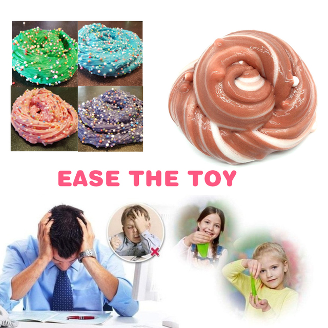Clear Slime Fluffy Mini Grain Funny Foam Slime Toys Decompression Poke Mud Clay Antistress Toys Pate slime gum For slimes set