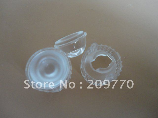 Wholesale- LED lens 20MM 120degrees optical lens Contain bracket 1W 3W Reflector Collimator