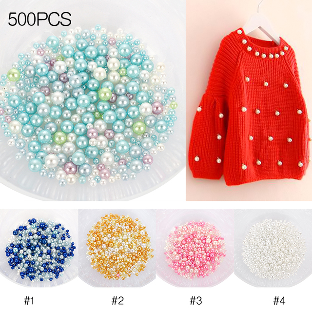 DIY Crystal Bead Crystal Mud Materials Crystal Rice UV 500pcs/Set Rainbow No Hole Loose Beads Epoxy Colorful Fish Beads for Clay