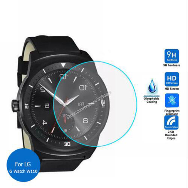 9H Dust-proof Tempered Glass Screen Protector For LG Urbane W200 W150 W110 Smart Watch Screen Protective Screen Film