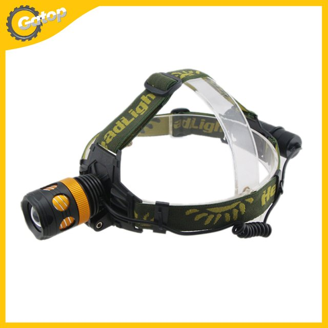 2000 Lumens T6 CREE LED Rotating Sports Outdoor Headlight Lamp Can Be Used As Flashlight With Zoom In/Out Function Head Torch