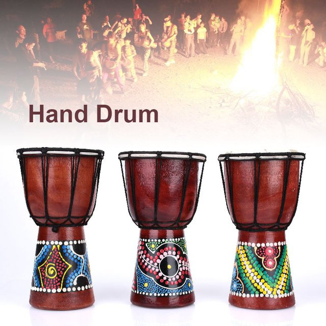Africa Djembe Djembe Percussion Instruments Original Ecology African Drum Handmade 4 Inch Strong Novice Practice