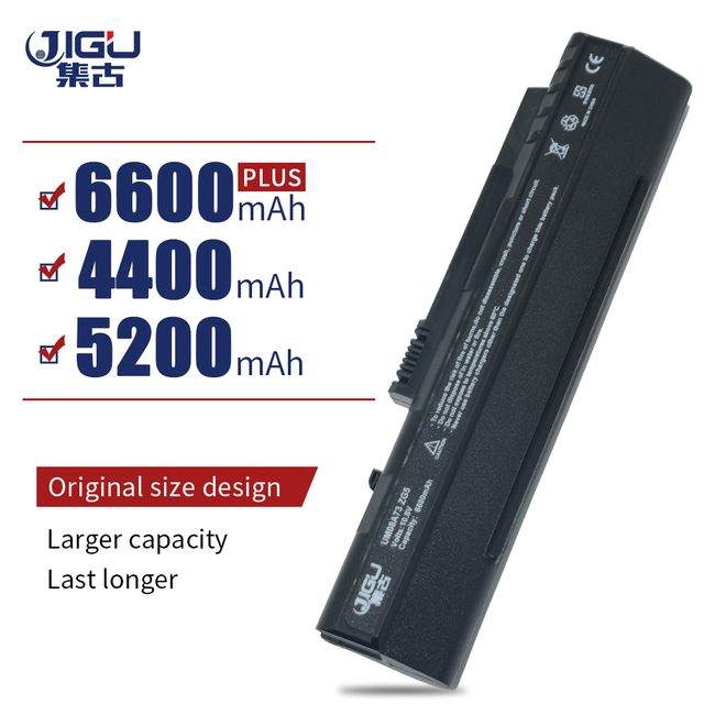 JIGU Laptop Battery For Acer EMachine eM250 LT1001J LT2000 Aspire One A110-Bb A150-Ab D250-1Bb D150-1B D150-1Bw 571 A150 ZG5