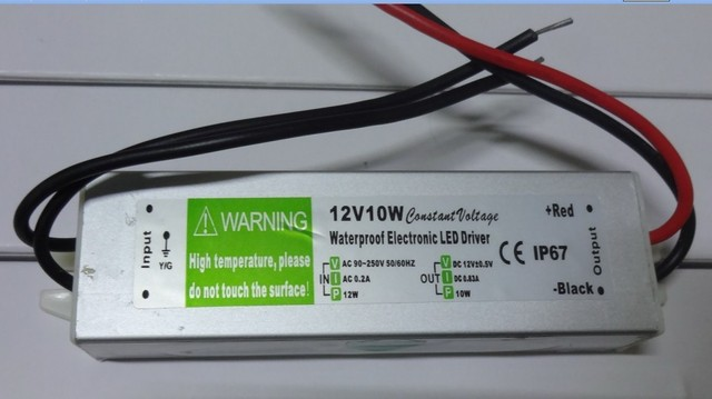 waterproof led power supply;AC90-250V input; 12V/10W output;IP68;CE and ROHS;