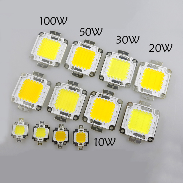 20W 30W 50W 100W COB LED Chips  high power DC 30V-36V Integrated Source SMD For Floodlight Spotlight Warm White /White outdoor F