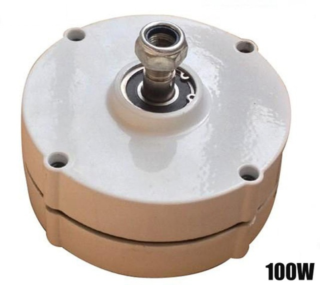 Hot Sale 2018 Small 100w 200w 12v/24v/48vac Permanent Magnetic Generator with Copper Coil and High Standard Magnets