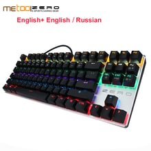 Free Shipping Original Metoo ZERO Wired Mechanical Keyboard with LED Backlit Wireless Gaming Keyboard 87/104 Keys For Gamer