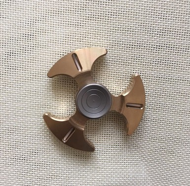 Limited Edition High-end Luminous tomahawk brass EDC ceramic bearing Fidget spinner Toys for Autism and ADHD Anti Stress Toy