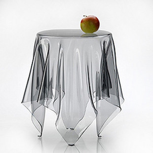 Small ultra-thin soft glass table mat plastic table cloth transparent waterproof oil tablecloth pvc dining table cover