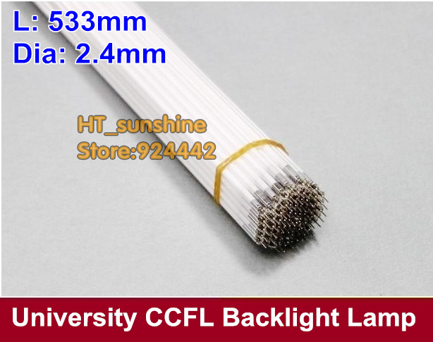 Free Shipping 23.6 inch wide screen LCD CCFL lamp 533mm x 2.4mm ccfl backlight 533 mm ccfl backlight tube