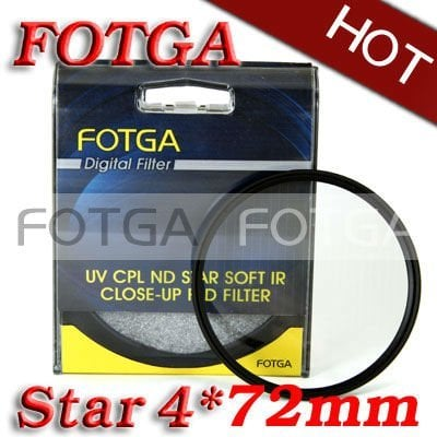 Fotga Four 4 Point 4PT Star Filter for 72mm Lens for Canon Nikon Sony Olympus Camera