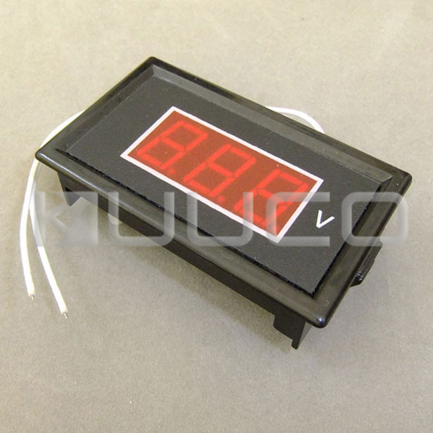 "5 PCS/LOT Digital Voltage Meter AC 60 ~ 500V Voltmeter 0.56 "" Red Led Display Voltage Tester AC 110V 380V Volt Meter"