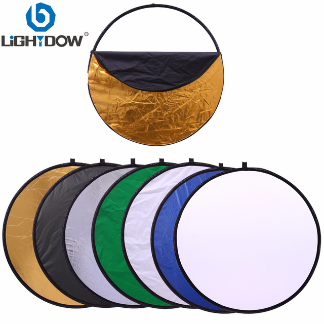 """80cm 7 in 1 32"""" Colorful Portable Photography Studio Reflector Multi Photo Disc Collapsible Light Reflector"""