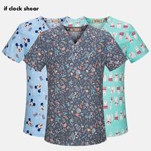 High quality Medical Surgical Uniforms pharmacy Hospital Nurse Scrub Tops Breathable Beauty salon Dentistry Pet doctor overalls