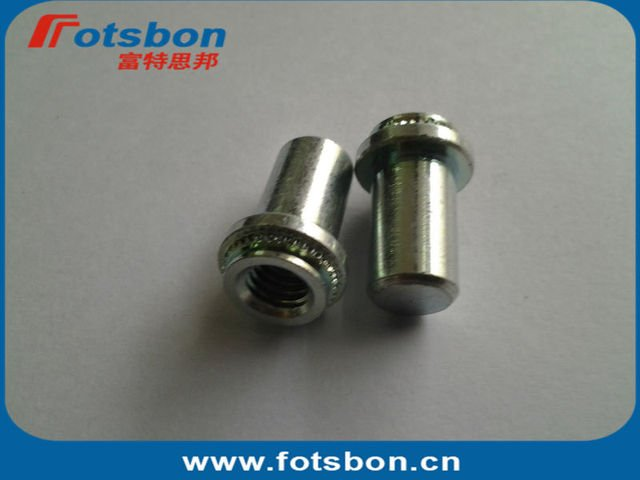 BS-M4-2 Blind Nuts, self-clinching nuts,  stainless steel, in stock.