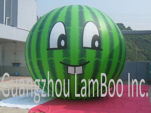 New Design Inflatable Watermelon Helium Balloon for Events/Other Shape also can be made/Free Shipping