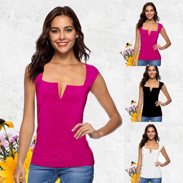 HEFLASHOR Sleeveless Tops Women Summer Backless Sexy Tank Tops 2019 Fashion Solid Ladies Holiday Clothes Plus Size 4XL 5XL
