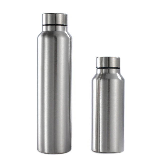 650/1000ml Single-wall Stainless Steel Water Bottle (NOT THERMOS) Portable BPA Free Cola Beer Drink Bottle