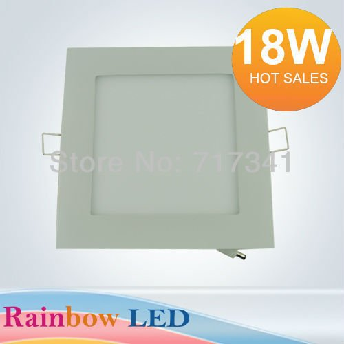Free Shipping Dimmable/non-dimmable 18w Square Led Panel Light Downlight Ceiling Lamp 2835led (90pcs) Ac85v~265v) 1800lm