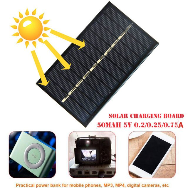 Solar Panel Polysilicon Solar Charger Black Travel New Energy Phone Mate Waterproof Tool Outdoors New Panel Charger USB Durable