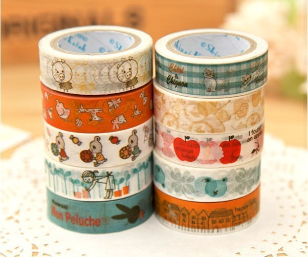 High quality washi masking tape. Antique lovely adhesive tape . 20 design stationery DIY sticker collection .