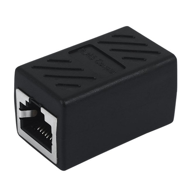 Durable Lan Coupler Female To Female 3 Color RJ45 Coupler Computer Ethernet Connector Adapter