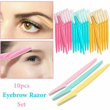 10 Pcs Small Professional Trimmer Safe Blade Shaping Knife Eyebrow Blades Face Hair Removal Scraper Shaver Makeup Beauty Tools