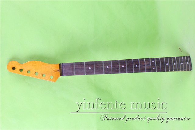 "L -00149+1 # yellow color  25.5"" Electric guitar neck fine quality   rosewoood  fingerboard 21 fret"