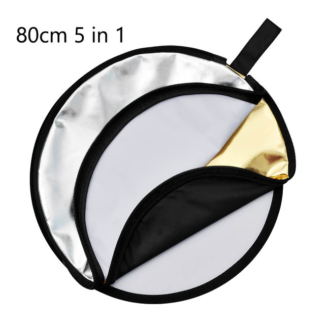 """Godox 80cm 32"""" Portable Collapsible 5 in 1 Photo Reflector Photography Light Round Reflector for Studio Multi Disc Reflector"""