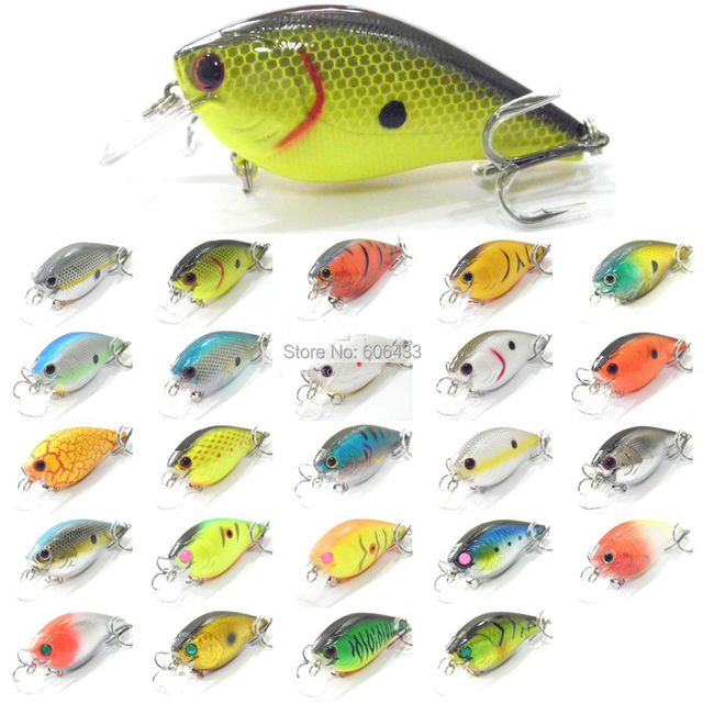 10 Pieces Fish Fishing Crankbaits Lures Lure Crank Baits Hook Diving 8cm/17.5g Free shipping