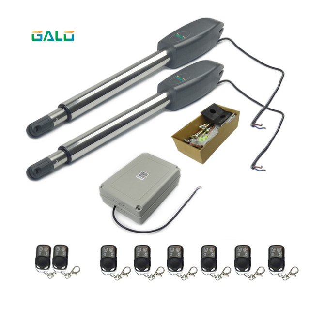 Automatic Double arms swing gate opener,Controller box input AC110~240V to motor voltage DC24V support Wireless control