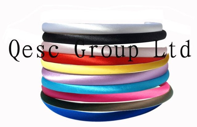 FREE SHIPPING! 1cm SATIN HEADBAND,for sinamay  fascinator/fascinator/hair ornament/hair accessory.50pcs/lot.10 colors