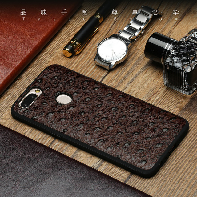Genuine Leather For OPPO R11 R11Plus Corium Shell Bags silicone phone case For OPPO R9s R9 Plus Luxury business phone case
