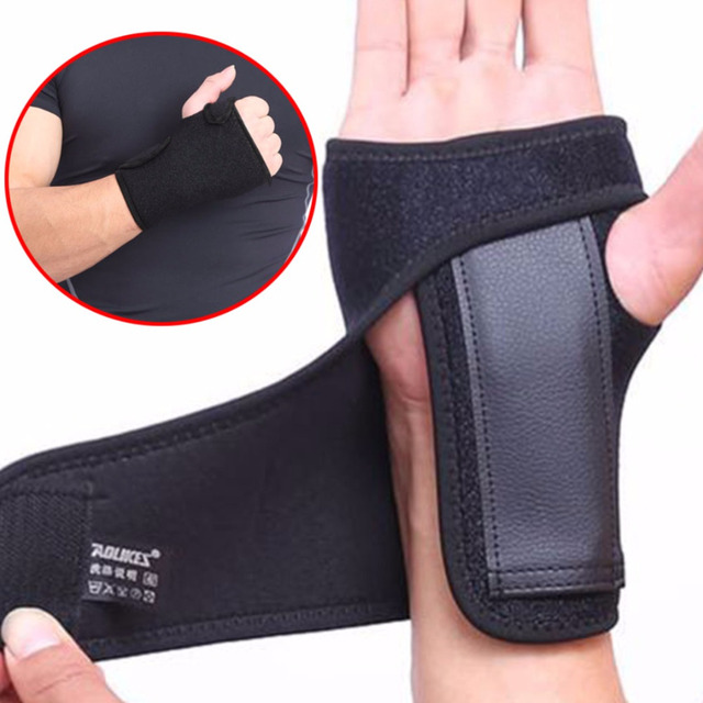 1pcs Adjustable Wrist Support Hand Guard Protector Palm Brace Carpal Tunnel Wrap Left/ Right Hand Sports Protector