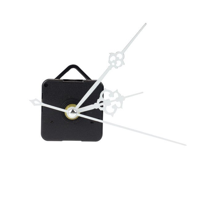 Useful High Quality White Quartz Clock replacement Movement + time Hands for DIY Repair Dropshipping