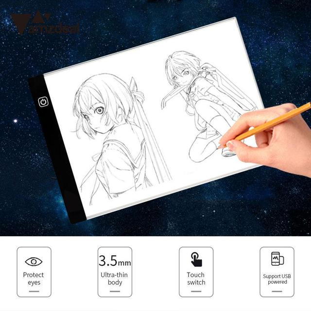 AMZDEAL A4 LED Writing Painting Light Box Tracing Board Copy Pads Drawing Tablet Artcraft A4 Copy Table LED Board