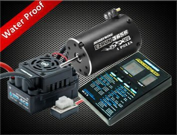 eZRun WP-SC8 ESC + 3656 3400KV Motor + Pro-card Combo for 1/10 Short Truck/Big wheel/ Truck SC-C1