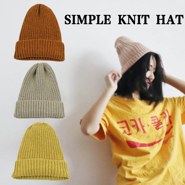 Wool Cap Knit Cap Knitted Winter Hats Sleeve Unisex Warm Beanies Solid Cute Hat for Girls Boys Casual Hat Skullies Caps Gorros