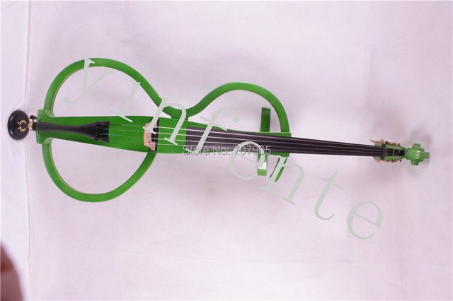 4/4 New Electric cello White Blue Black Yellow solid wood 7 # green color