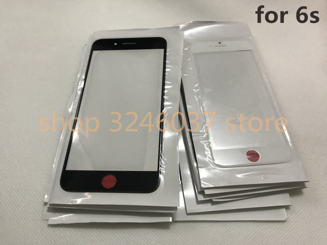 50pcs/lot Original Replacement LCD Front Touch Screen Glass Outer Lens for iphone 6S 4.7inch Oleophobic coating high quality