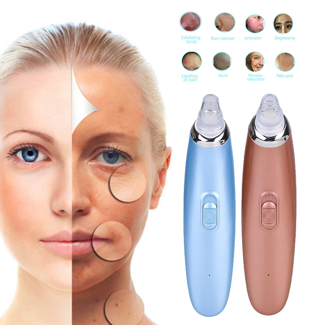 Facial Whitening Lifting USB Blackhead Remover Electric Pore Cleaner Remove  Horny Blackhead Suction Machine face skin tool