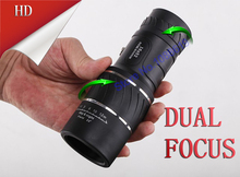 Dual Focus!Monocular Lenses Compact Hunting Telescope Golf Scope 16x52 Brasil Optical Binoculars with non-IR HAVE NO DUST COVER