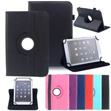 360 Rotating Case Universal Cover for 9.7 10 10.1 inch Tablet PC Pu Leather Stand Cover for iPad Samsung Lenovo HUAWEI LG Case