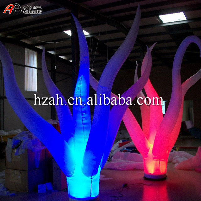 Standing Led Lighted Inflatable Plant Inflatable Jellyfish Plant for Party Decoration