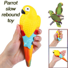 Squishy Jumbo Exquisite Fun Cute Parrot Scented Slow Rising Decompression Kids Squeeze Toys Squish Antistress Stress Relief Toy