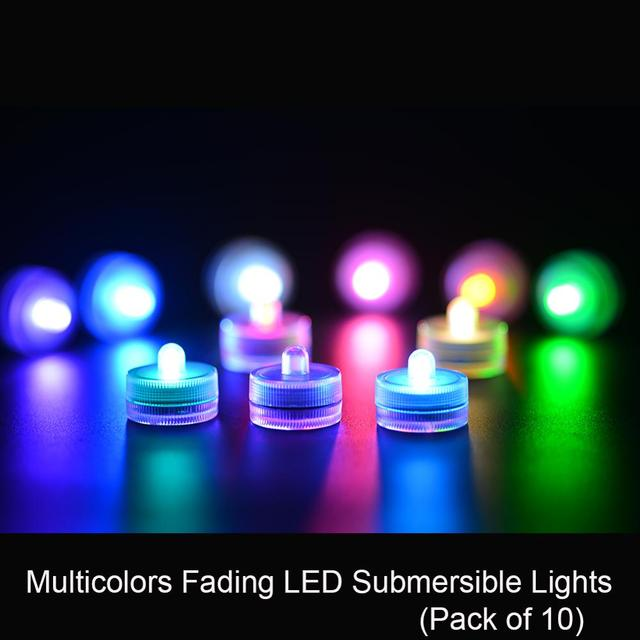 36pcs/lot  Waterproof Underwater Battery Powered Submersible LED Tea Lights Candle for Wedding Party Decorations